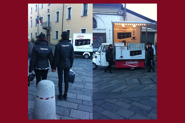 Ape on Tour Caffè Trombetta - Guerrilla Marketing