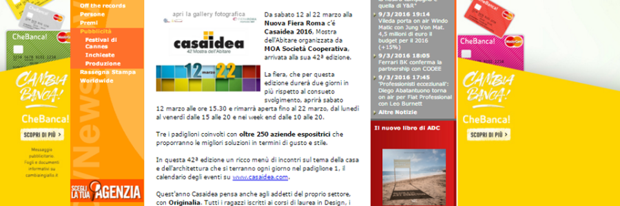 Dal 12 al 22 marzo torna a Roma 'Casaidea', BSG pianifica la campagna